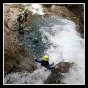 toboggan facile pour finir le canyon