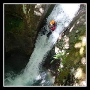grand toboggan dans le canyon de saugué