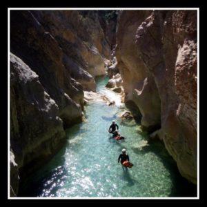 Canyon en Espagne en Sierra de Guara