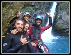 groupe dans un canyoning à gavarnie