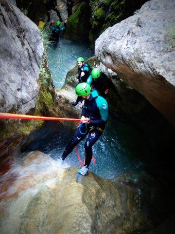 premier rappel du canyon Fornocal