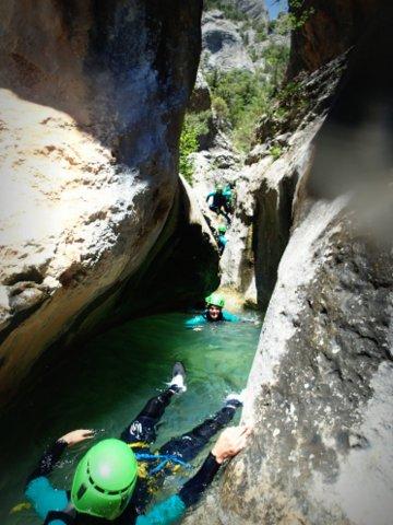 canyoning dans les gorges du fornocal