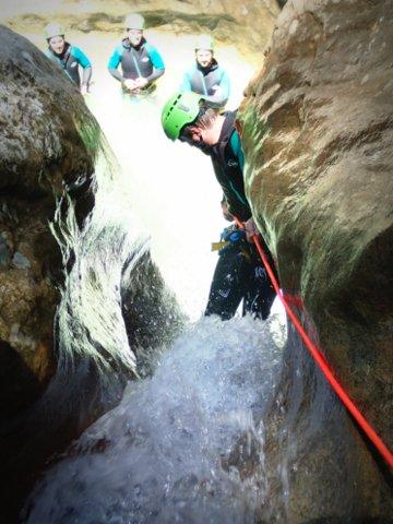Rappel et cascade au Fornocal
