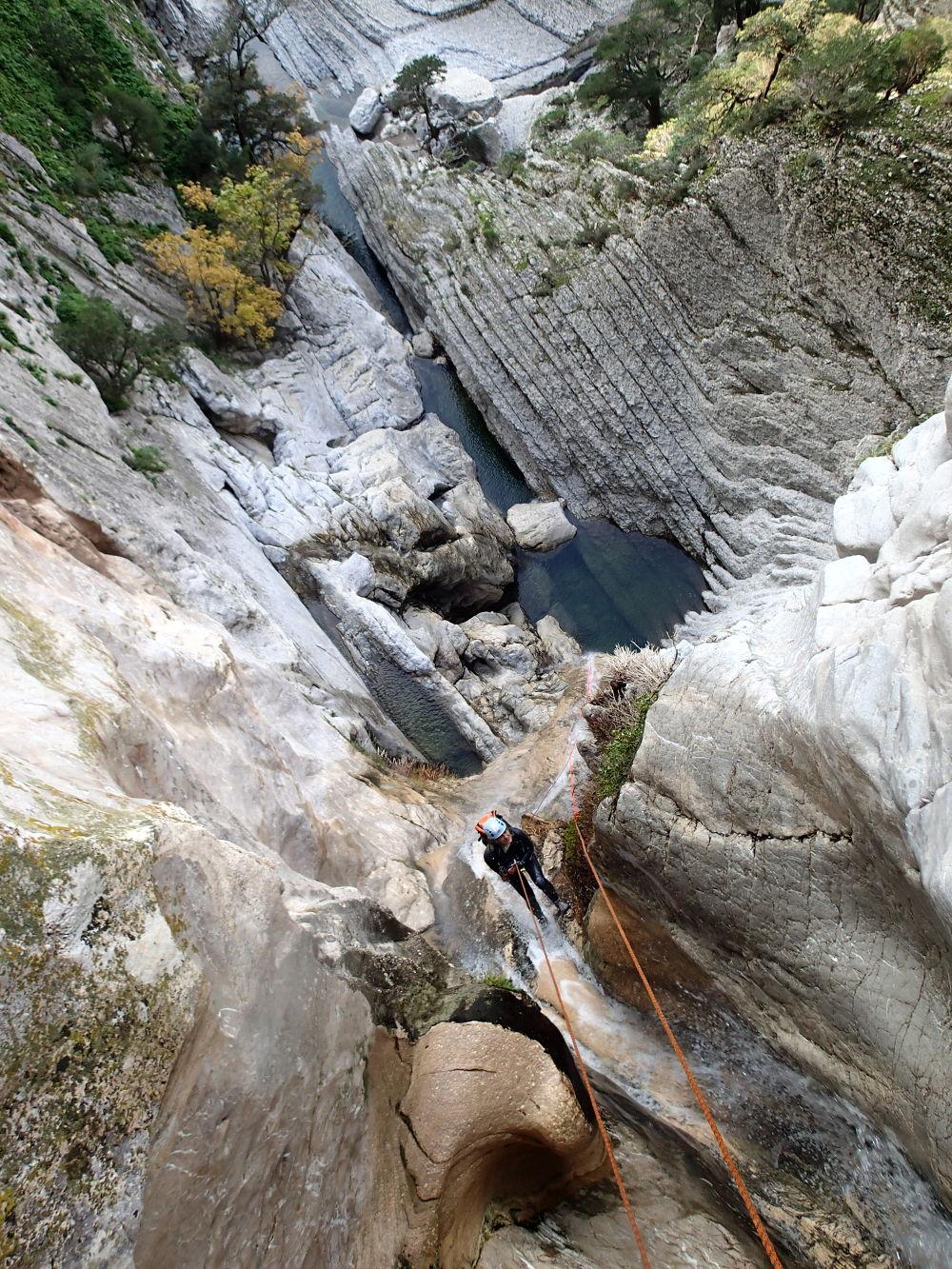 canyoning de donini en sardaigne