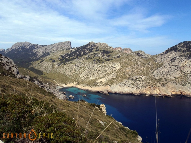 stage canyon dans les baleares