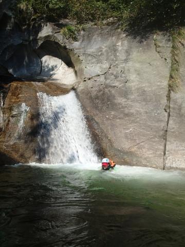 dans les dernières piscines d'Iragna